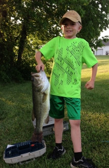 Alex With His Big Bass