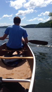 Canoeing on the Lake of the Ozarks