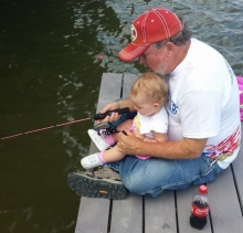 Grandpa and Granddaughter Fishing