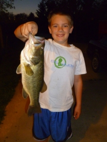 Nicholas with his catch