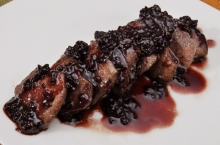 Venison Tenderloin with Blackberry Sauce